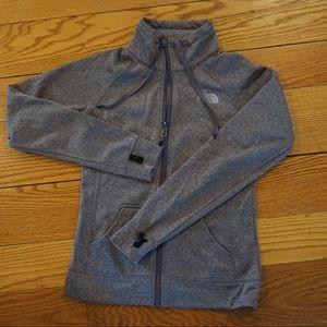 North Face Grey Zipper Sweatshirt